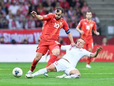 Altstar Goran Pandev (li.) kämpft mit Nordmazedonien um die erste EM-Teilnahme
