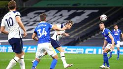 Tottenhams Gareth Bale (M.) erzielte den Siegtreffer gegen Brighton