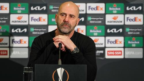 Bayer-Coach Peter Bosz war nicht zufrieden