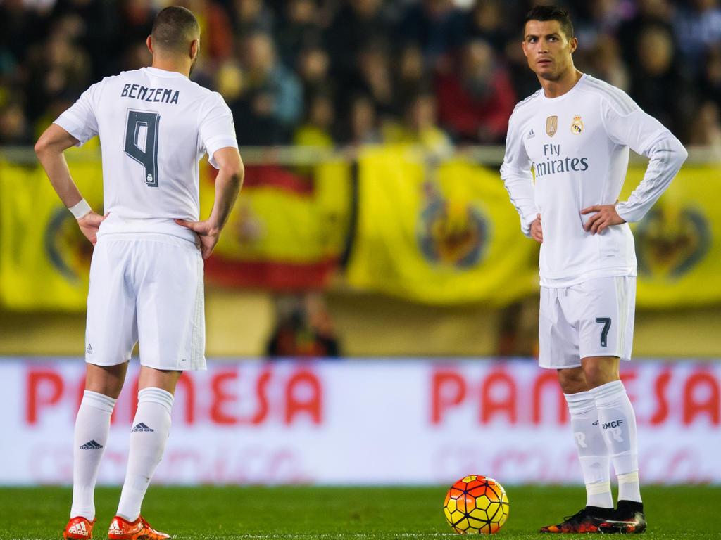Auch Karim Benzema (li.) und Cristiano Ronaldo konnten die Real-Pleite nicht verhindern