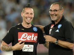 Vertragsverlängerung: Marek Hamšík (l.) bleibt Neapel treu