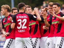 Der SC Freiburg freut sich nach dem Erstrunden-Sieg nun auf die Liga