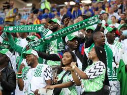Auch die nigerianischen Fans hoffen auf einen Erfolg
