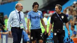 Uruguays Edinson Cavani hofft einen Einsatz im WM-Viertelfinale gegen Frankreich