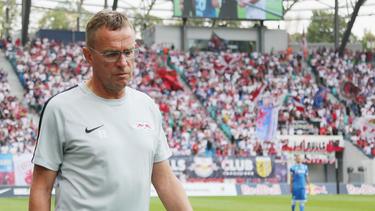 RB Leipzigs Trainer Ralf Rangnick will im Rückspiel offensiv aufstellen
