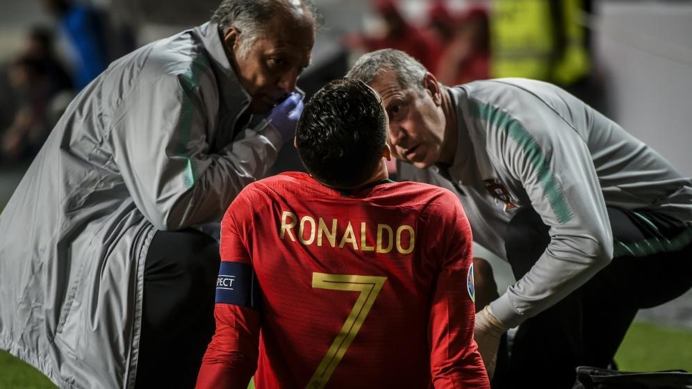 Cristiano Ronaldo erlitt eine Verletzung am Beugemuskel