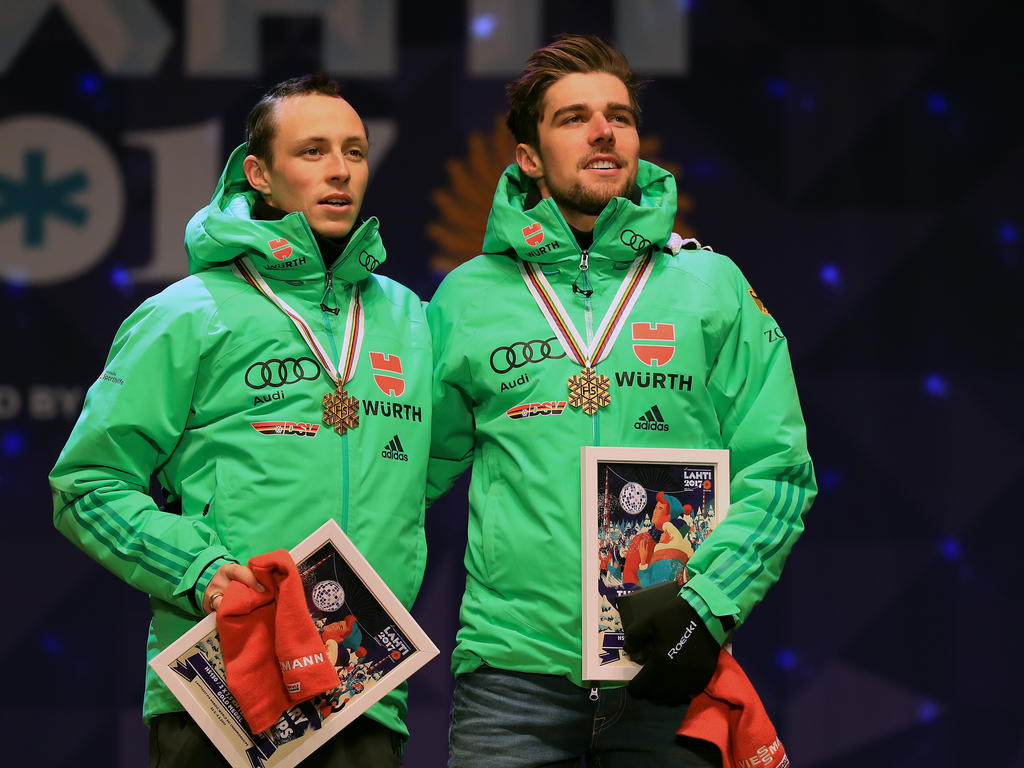 Eric Frenzel und Johannes Rydzek blicken schon auf Olympia