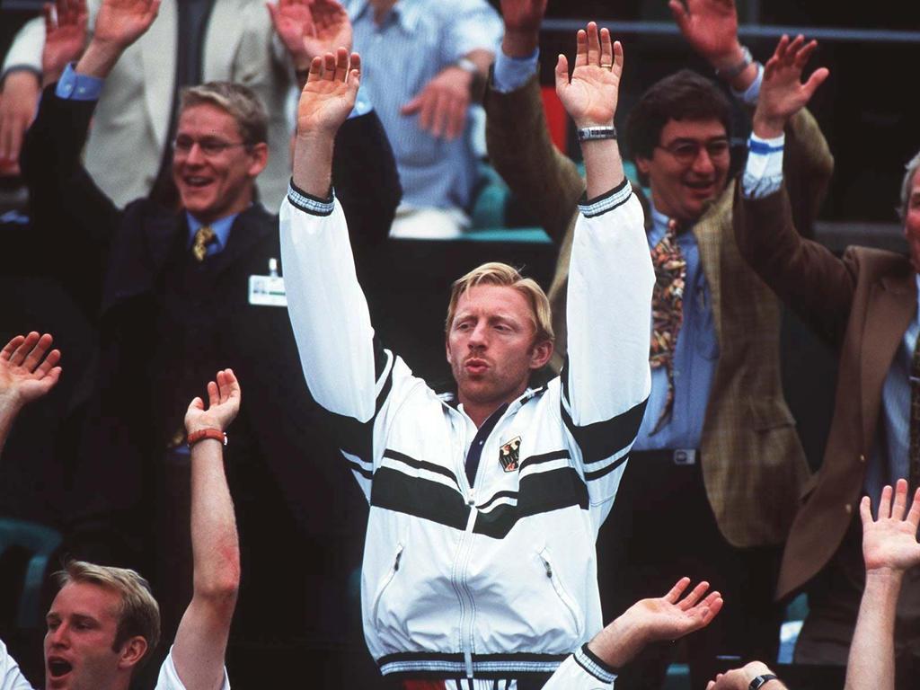 Boris Becker beim Davis Cup 1998