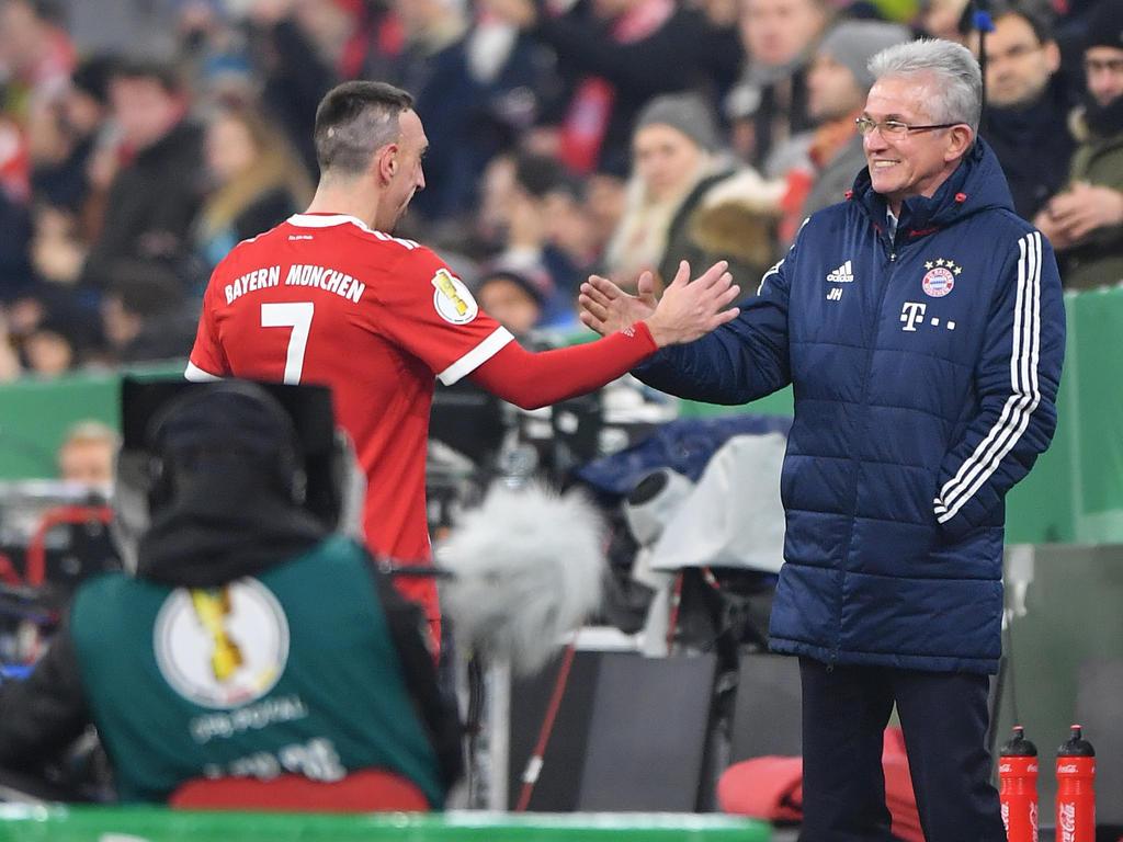 Jupp Heynckes und Franck Ribéry verstehen sich blendend