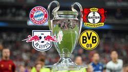 Der FC Bayern, der BVB, Bayer Leverkusen und RB Leipzig vertreten die Bundesliga in der Champions League
