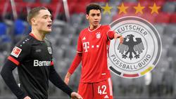 Florian Wirtz (l.) und Jama Musiala stehen vor ihren Debüts in der A-Nationalmannschaft