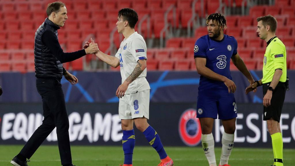 Thomas Tuchel (l.) und der FC Chelsea stehen in der Runde der letzten Vier