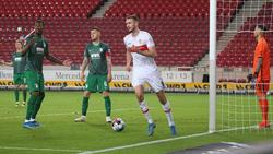 Sasa Kalajdzic (M.) erzielte den Siegtreffer für den VfB Stuttgart