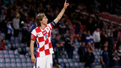 Luka Modric traf sehenswert gegen Schottland