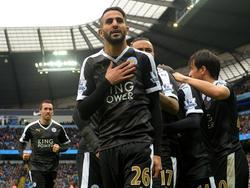 Riyad Mahrez ist Englands Spieler des Jahres
