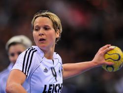 Grit Jurack während der Handball-WM 2009