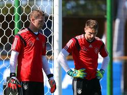 Waren 2014 zusammen bei der WM in Brasilien: Manuel Neuer (l.) und Ron-Robert Zieler
