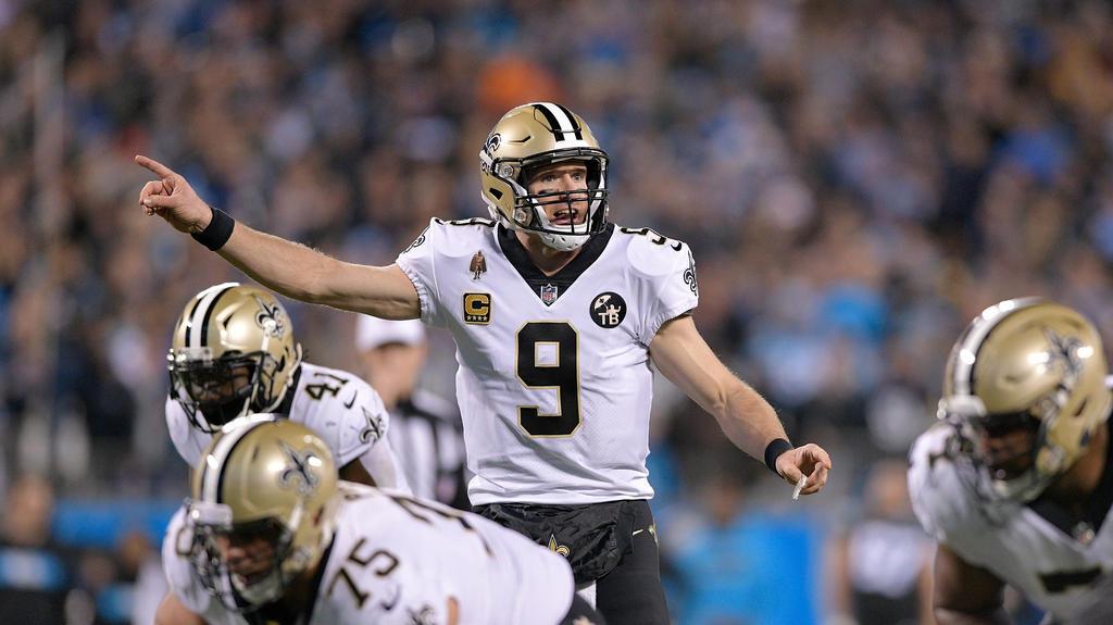 Die New Orleans Saints um Quarterback Drew Brees stehen in den Playoffs