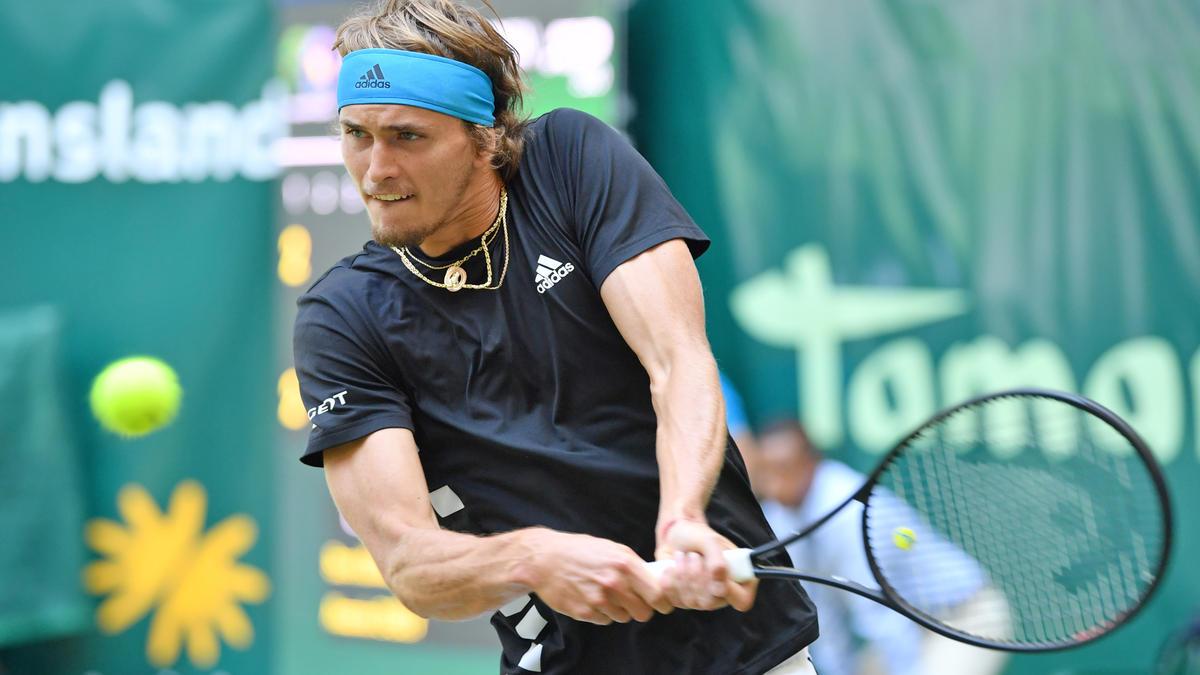 Alexander Zverev steht im Viertelfinale vom Rasenturnier in Halle