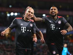 Machte den Deckel drauf: Arjen Robben (l.) traf zum 2:1 für die Bayern