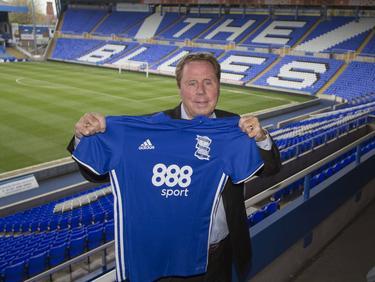 Harry Redknapp wordt gepresenteerd als nieuwe trainer van Birmingham City (19-04-2017).