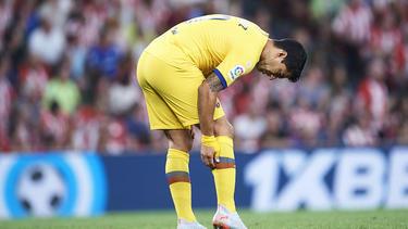 Luis Suárez verletzte sich an der Wade