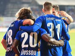 Hartberg jubelt über einen späten Heimsieg gegen Mattersburg