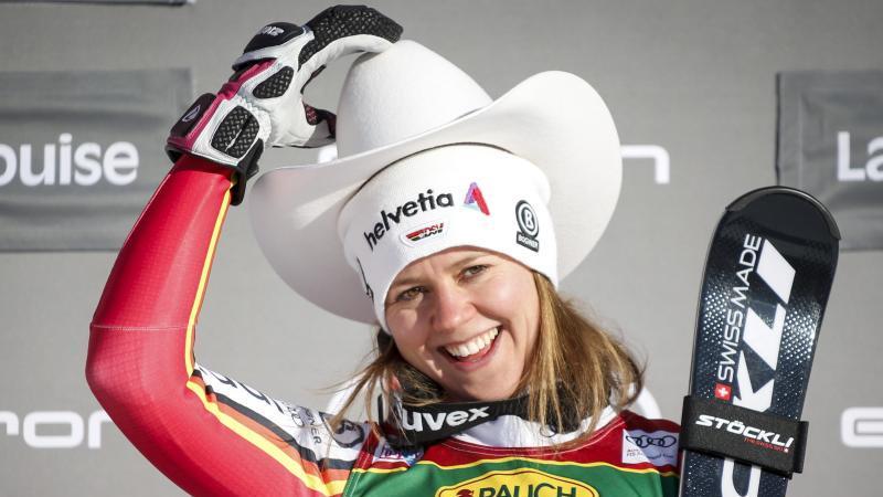 Viktoria Rebensburg siegte beim Super-G in Lake Louise