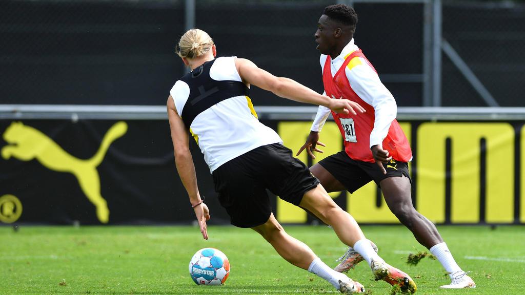 BVB-Stars im Duell: Erling Haaland und Abdoulaye Kamara