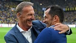 BVB-Boss Hans-Joachim Watzke und Hasan Salihamidzic vom FC Bayern sehen die kommenden Gegner mit Gelassenheit