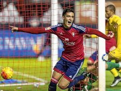 Mikel Merino bejubelt seinen Treffer gegen Alcorcón