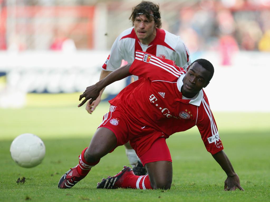 Louis NGwat Mahop bei seinem einzigen Bundesligaspiel für die Bayern