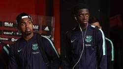 Ousmane Dembélé (r.) saß gegen Inter über die komplette Spielzeit auf der Bank