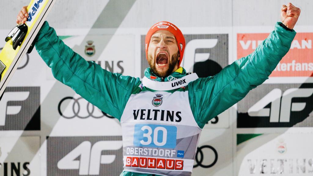 Markus Eisenbichler sprang auf den zweiten Platz der Vierschanzentournee