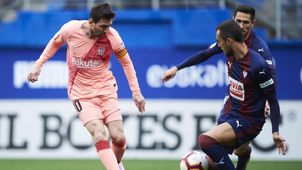 Trotz zweier Tore von Lionel Messi spielt der FC Barcelona nur Remis