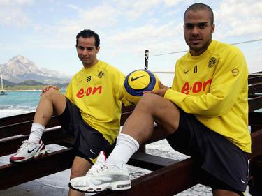 Salvatore Gambino (l.) und sein Kumpel David Odonkor spielten gemeinsam beim BVB