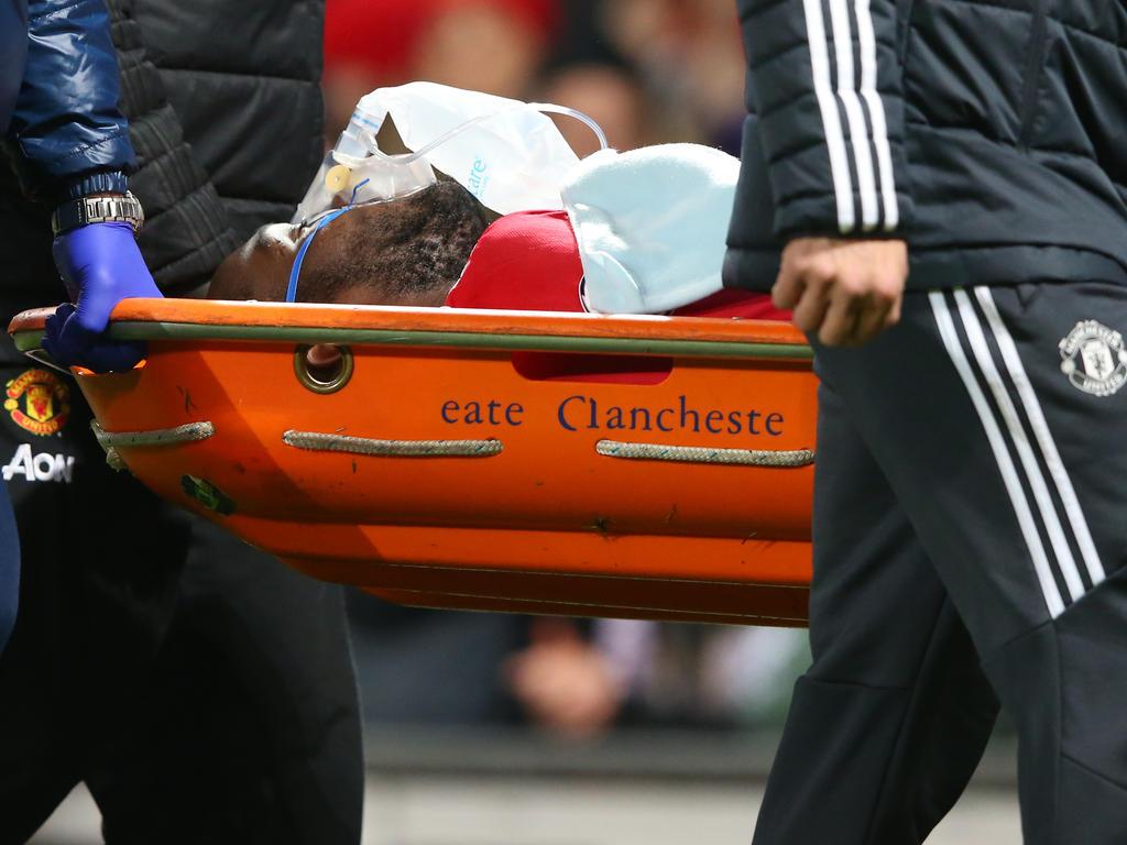 Am Samstag war Romelu Lukaku nach einem Schlag gegen den Kopf minutenlang behandelt worden