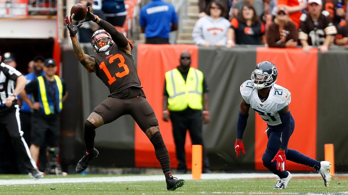 Odell Beckham Jr. (l.) spielt in der NFL für die Cleveland Browns