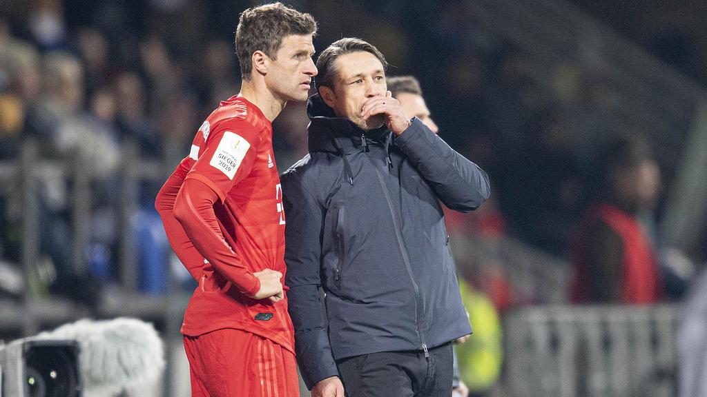 Thomas Müller (l.) war unter Niko Kovac kein Stammspieler beim FC Bayern