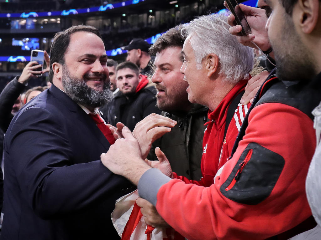 Marinakis (links) auf Champions-League-Tour mit Olympiakos