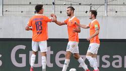 Darmstadt 98 setzte sich gegen Erzgebirge Aue durch