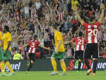 Un gol de Gorka Elustondo (#3) en el minuto 24 clasificó al Athletic. (Foto: Imago)