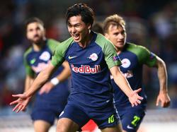 Salzburg ging 1:0 in Führung und holte in letzter Sekunde ein 2:2