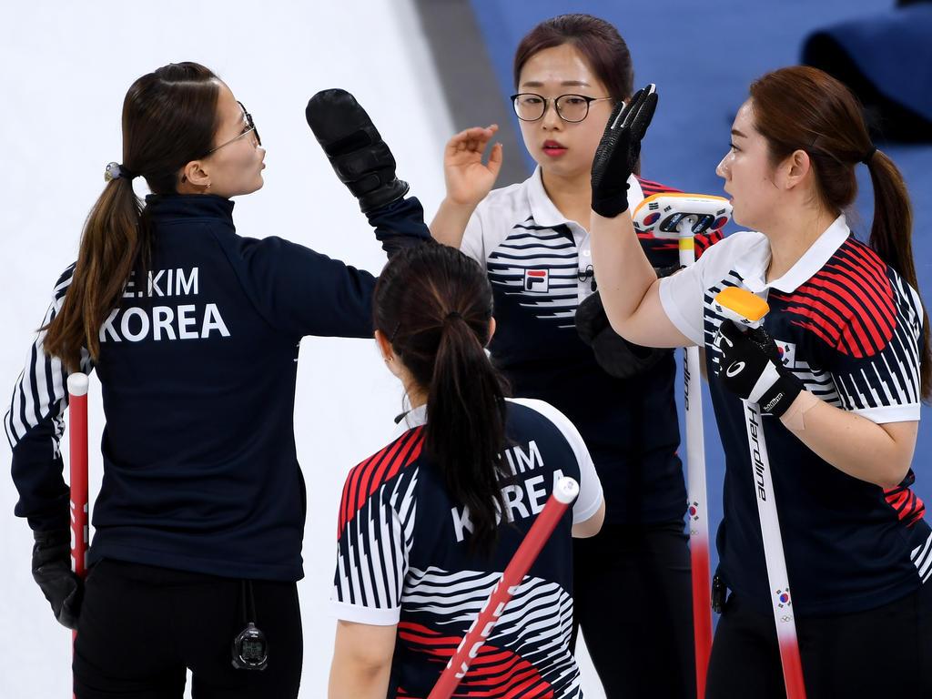Kim Eun Jung (l.) war mit Südkorea erfolgreich