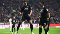 Luka Jović celebra un tanto ante el Fortuna Düsseldorf. (Foto: Getty)