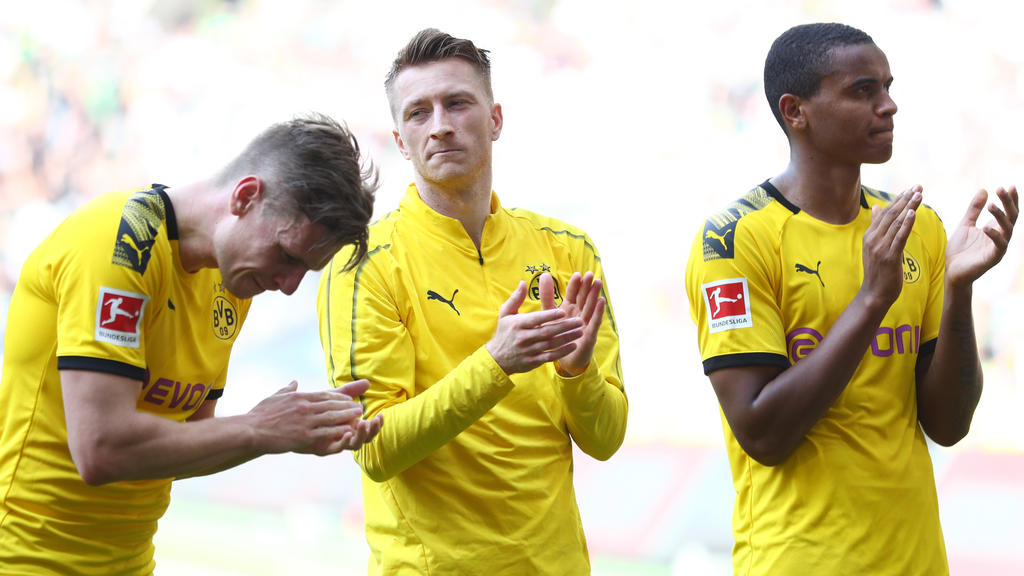 Marco Reus und seine Kollegen waren sichtlich enttäuscht