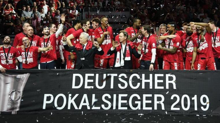 Brose Bamberg wurde in diesem Jahr deutscher Basketball-Pokalsieger