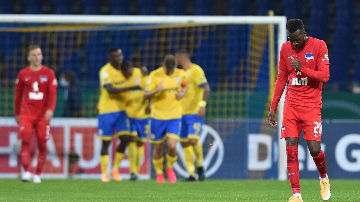 Hertha BSC scheiterte in der ersten Pokalrunde