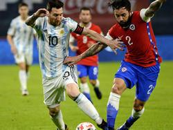 Messi estuvo activo en el frente de ataque argentino.