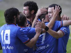 El Oviedo no baja el ritmo, cuando otros equipos han tropezado, los asturianos suman y siguen. (Foto: Imago)